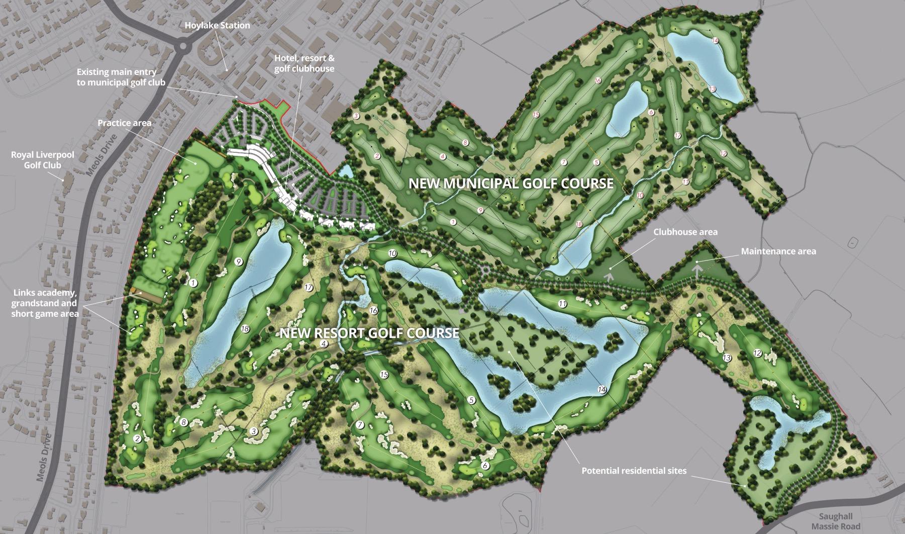Golf resort proposals plan