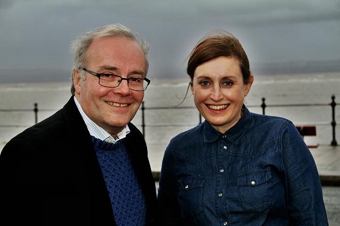 Mark Thomas and Emma Gunby