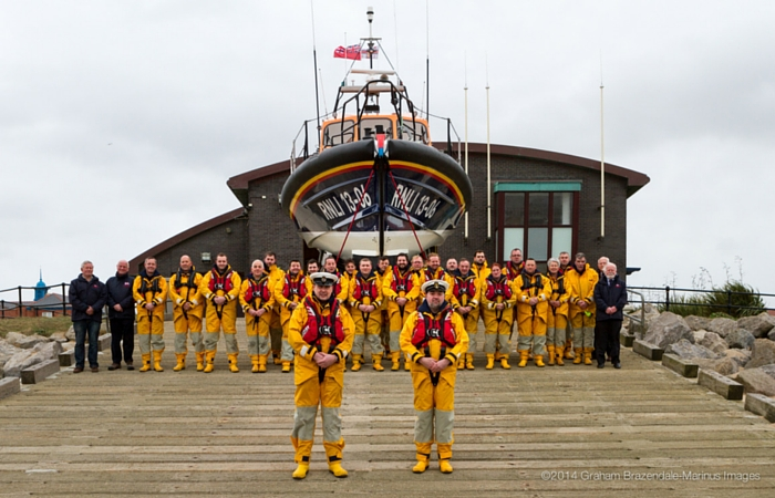 The crew of the new Shannon Hoylake lifeboat
