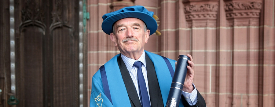 David Charters, honorary fellow of Liverpool John Moores University