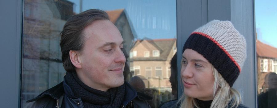 Billy and Victoria Preston outside Scogs