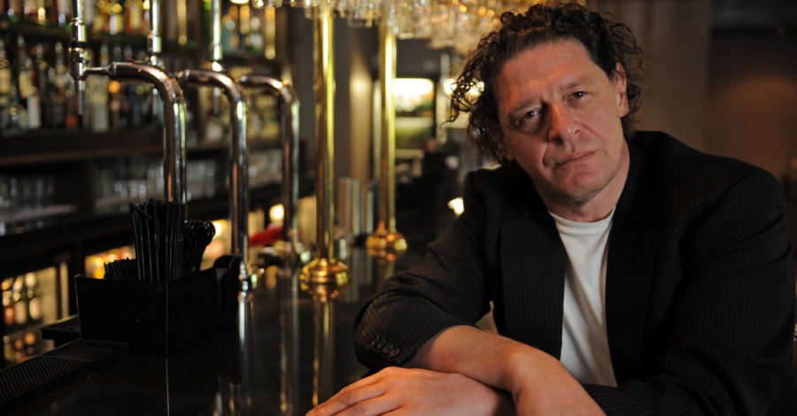 Marco Pierre White at his restaurant in Hoylake