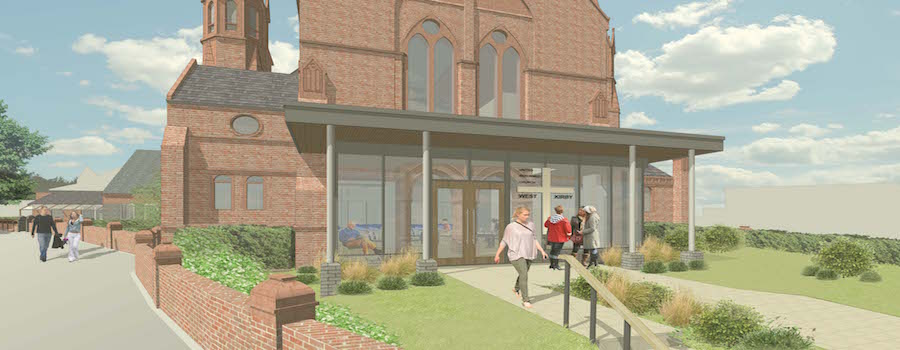 Building work underway at West Kirby United Reformed Church