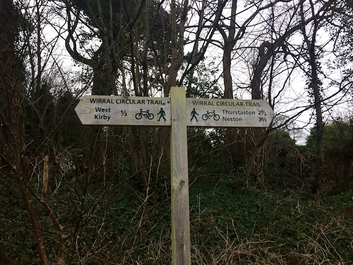 Wirral Way sign