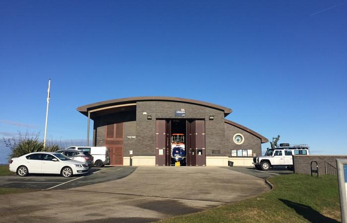 Hoylake lifeboat station this morning
