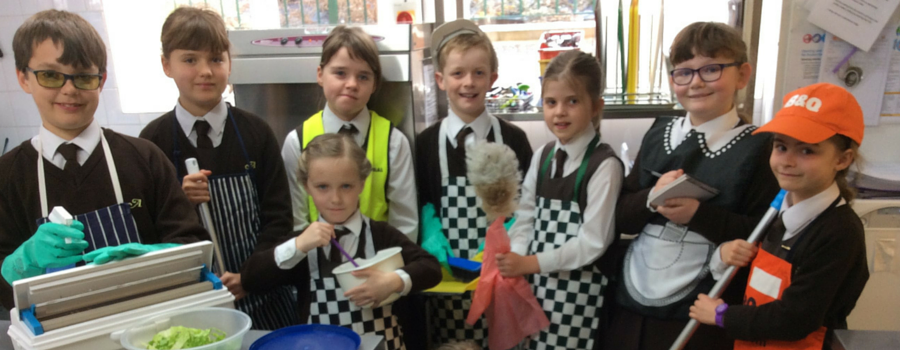 Avalon School's Kids Council get ready to do their chores to raise much needed funds for Nepal