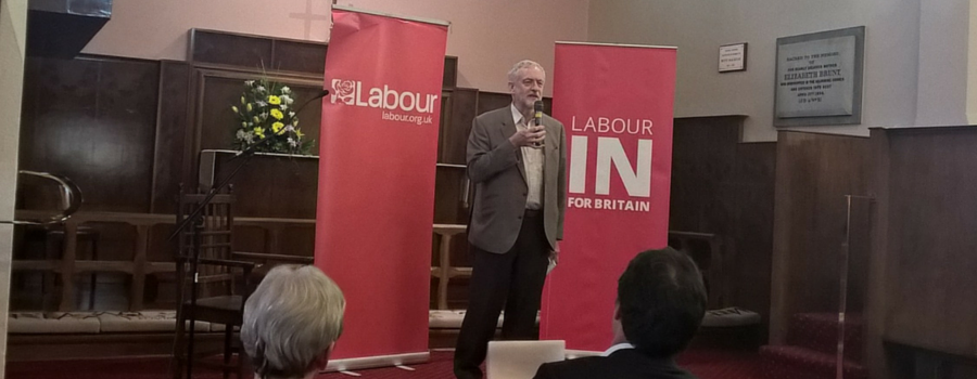 Jeremy Corbyn meets local Labour party members in West Kirby