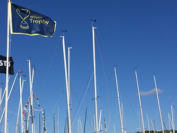 The Wilson Trophy flags at West Kirby Sailing Club