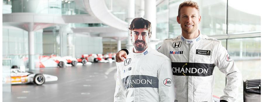 Formula 1 racing drivers, Fernando Alonso & Jenson Button