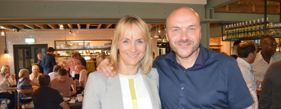 Louise Minchin with Simon Rimmer