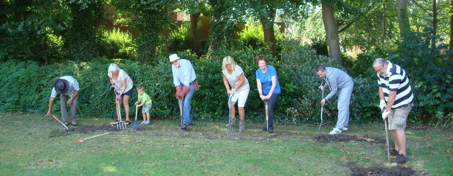 Friends of Sandlea Park get stuck in with four hour flower bed dig