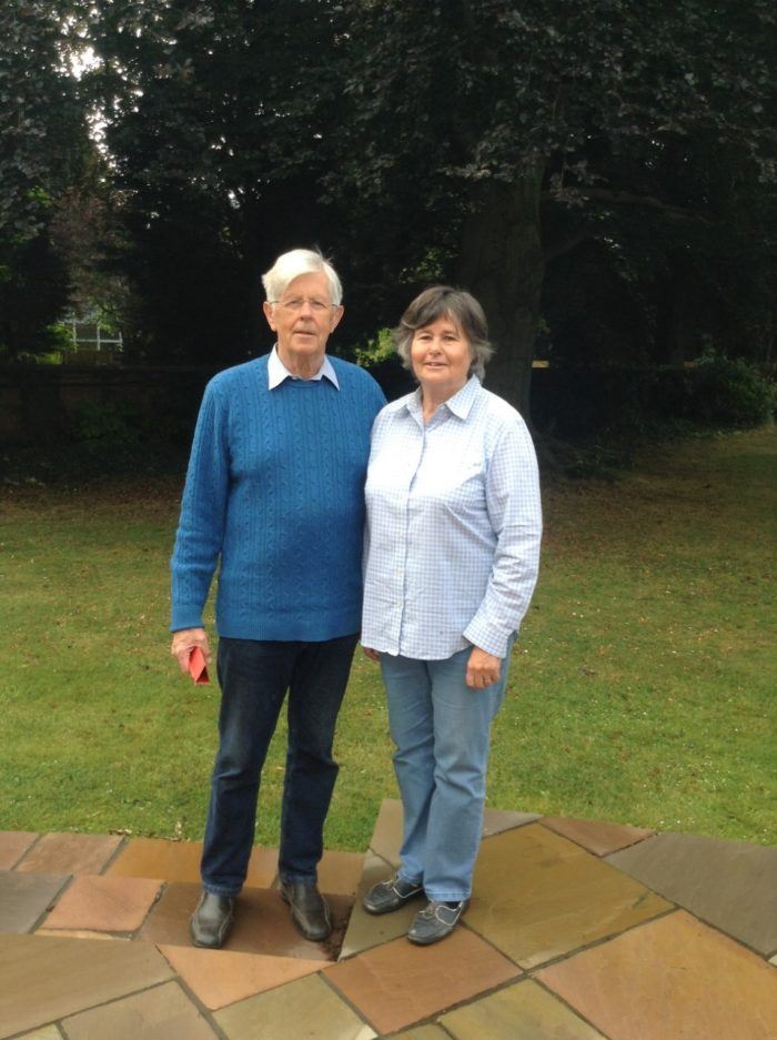 Sir David Clarke with his wife Alison, who both volunteer with Helplink