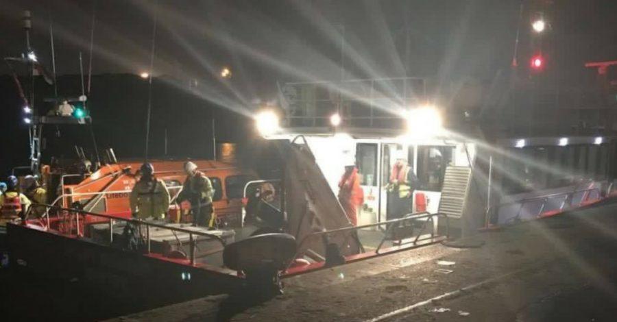 Hoylake lifeboat rescues wind farm catamaran in Mersey drama