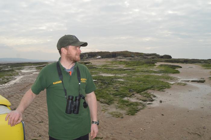 Wirral Council ranger Matt Thomas on Hilbre Island 2