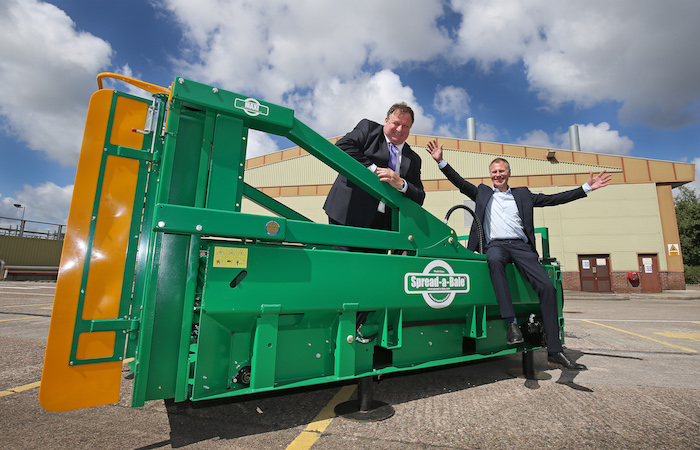 an Adams, Business Development Manager Bathgate Business Finance pictured with Michael Hughes from Spread a Bale. Images by Gareth Jones