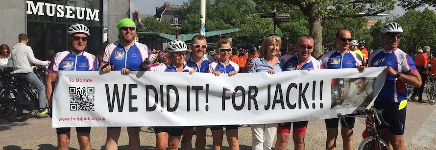 Cyclists take on epic 561km challenge in memory of Caldy teenager
