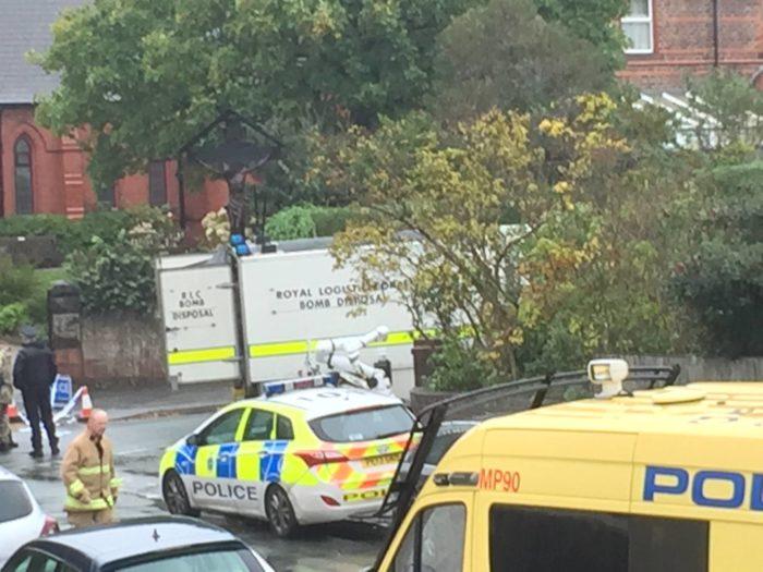 Bomb squad at Darmonds Green. Photo courtesy of Martina Franey