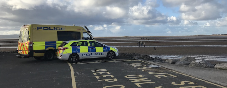 Emergency services search Hilbre Island