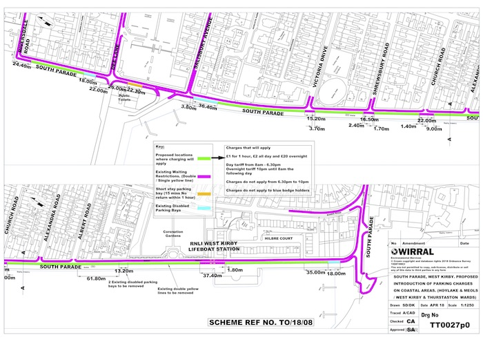 South Parade West Kirby proposed parking
