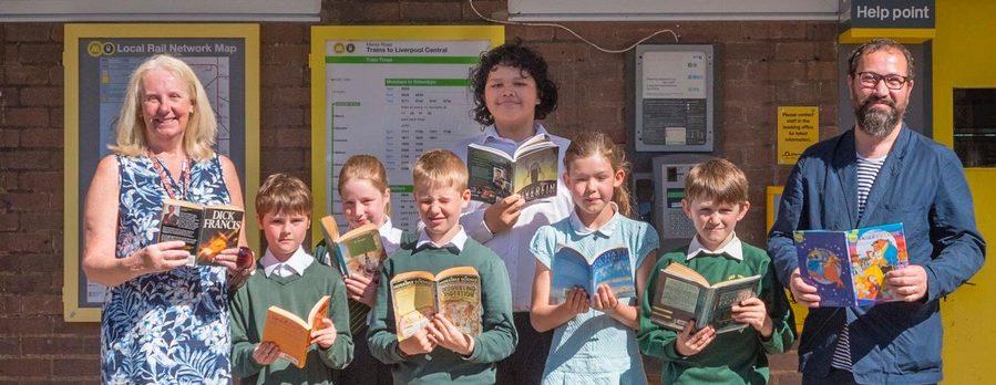 Hoylake school children get on board with station book exchange