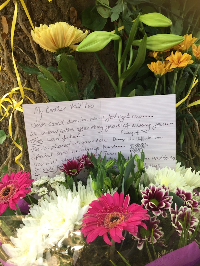Floral tribute to Phil