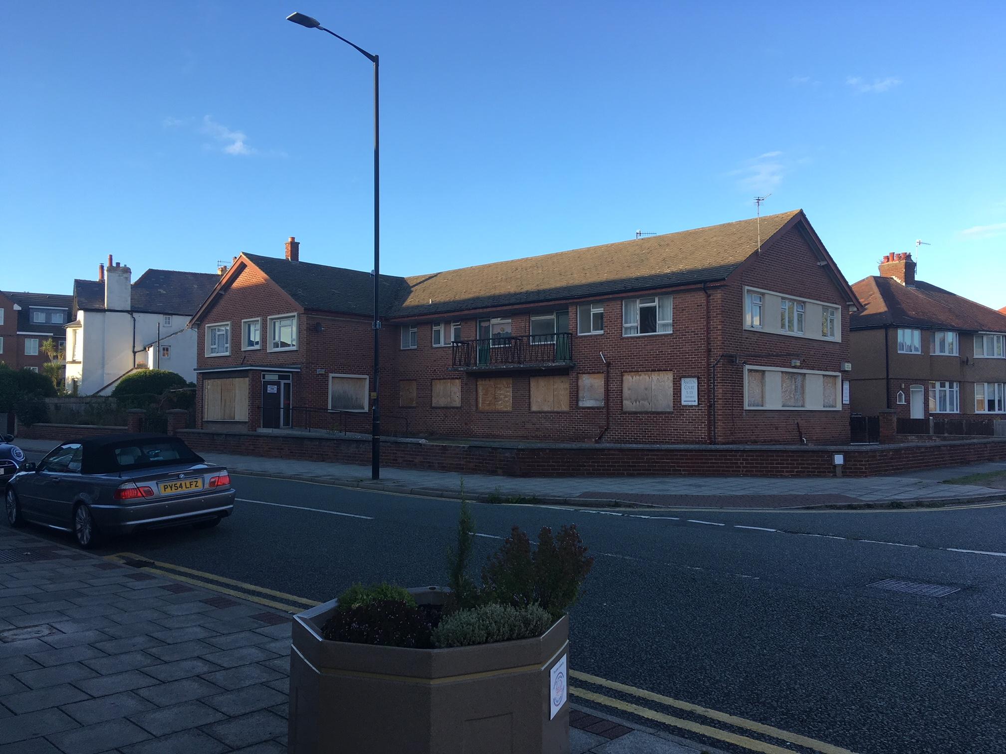 The former Ashton Court sheltered housing complex, earmarked for 14 properties