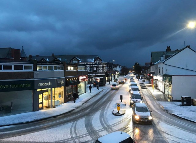 Ice-bomb causes chaos in West Kirby