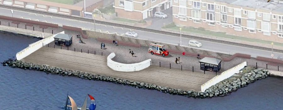 Here's a first glimpse of the options for a new flood wall in West Kirby