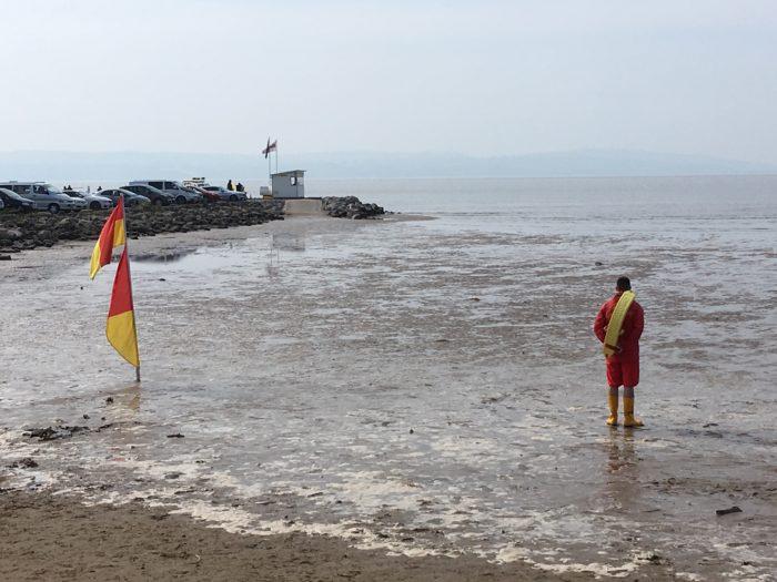Lifeguard at West Kirby beach