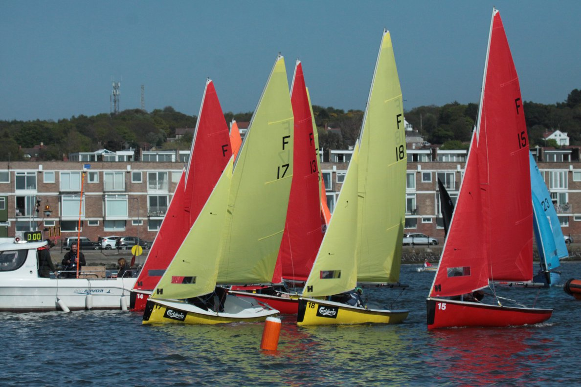 Boats competing in the Wilson Trophy
