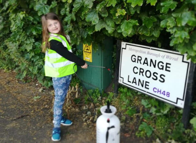 Meet the youngster from Meols cleaning up our road signs