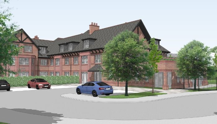 CGI image of proposed care home for Rectory Road