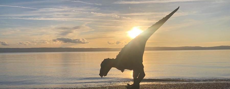 """See"" Rex – last chance to watch a dinosaur walking around West Kirby Marine Lake"