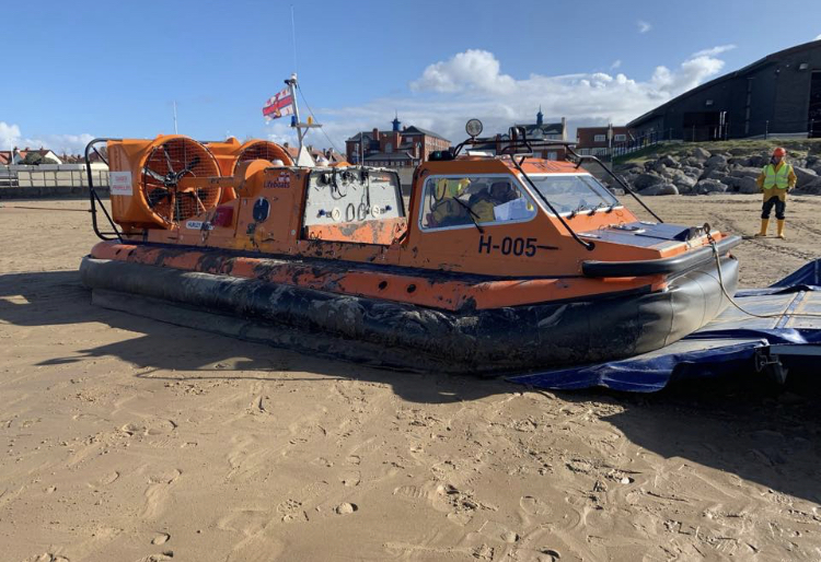 The hovercraft that took part in the rescue