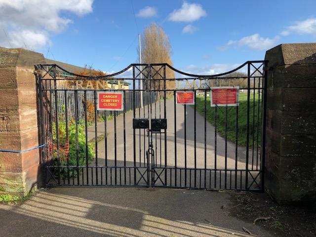cemetery closed gates