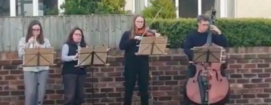 The Stephens' family pay a musical tribute to the NHS during coronavirus lockdown
