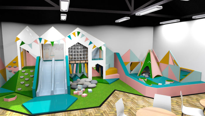 The indoor play area