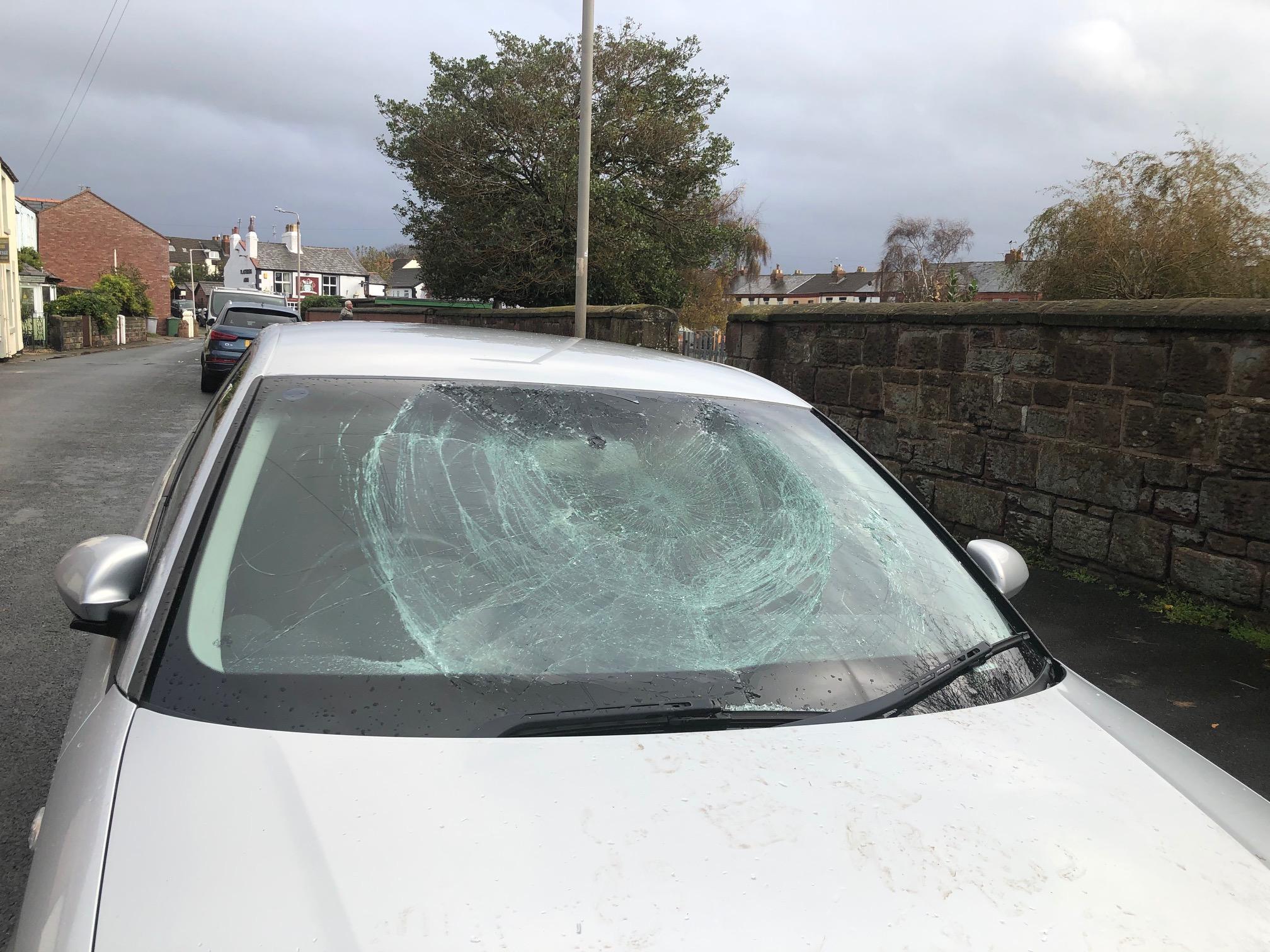 Several cars were vandalised last night.