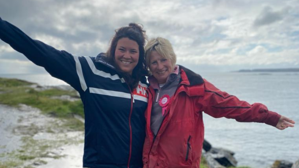 Victoria Evans, known as 'Bunta' to her friends and family, and her daughter Charlie, who were rescued from the mud by Hoylake RNLI volunteers l
