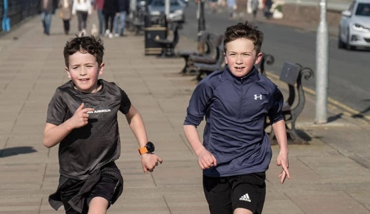 Youngsters complete fundraising marathon for West Kirby Lifeboat