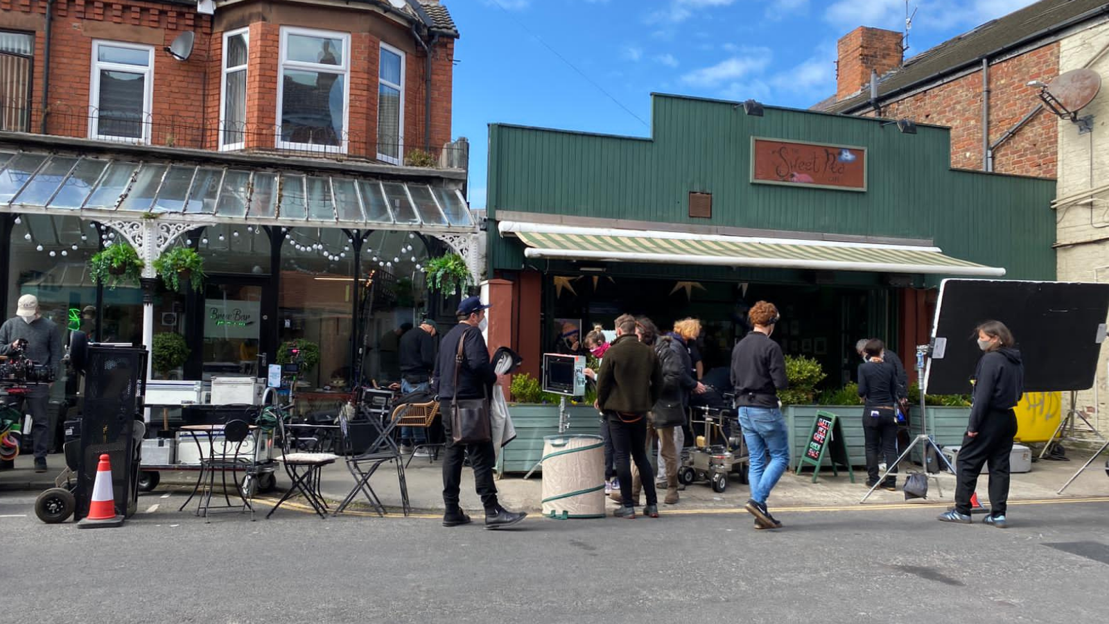 The Almond & The Seahorse filming in West Kirby