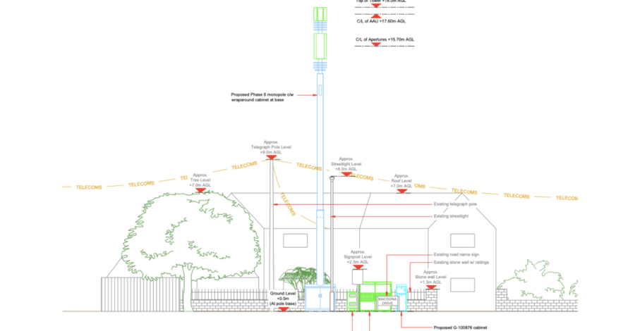 Proposed phone mast for West Kirby