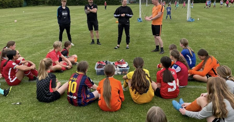 Champions League final player inspires West Kirby girls' football team