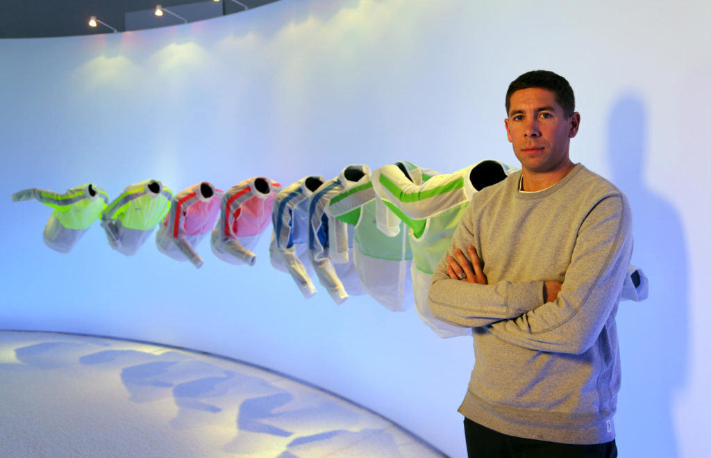 Former Nike Director, Pete Hoppins, who designed Caldy's new kit