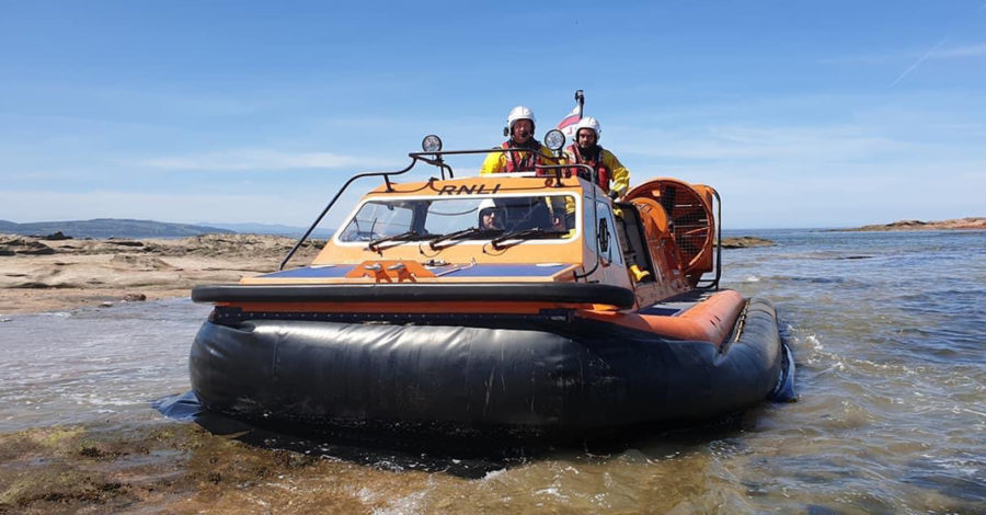 Coastguard helicopter, RNLI hovercraft and lifeguards in dramatic rescue off Hilbre Island