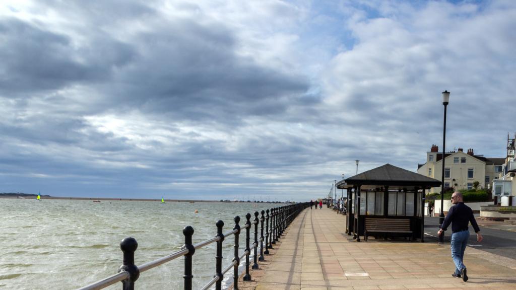 Coastal shelter on West Kirby Promenade